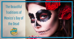 day of the dead featured image with girl with painted face