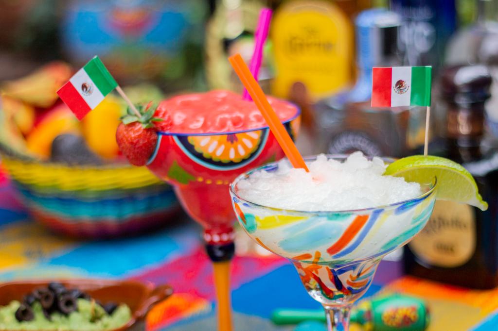 Mexican food margaritas