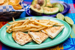Quesadillas from the kids menu at Blue Iguana in Salt Lake City