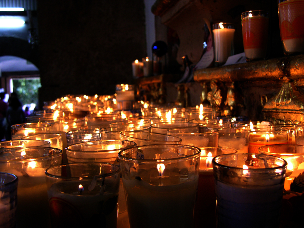 Catholic mass candles
