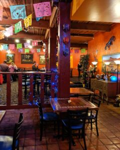 Inside blue iguana image