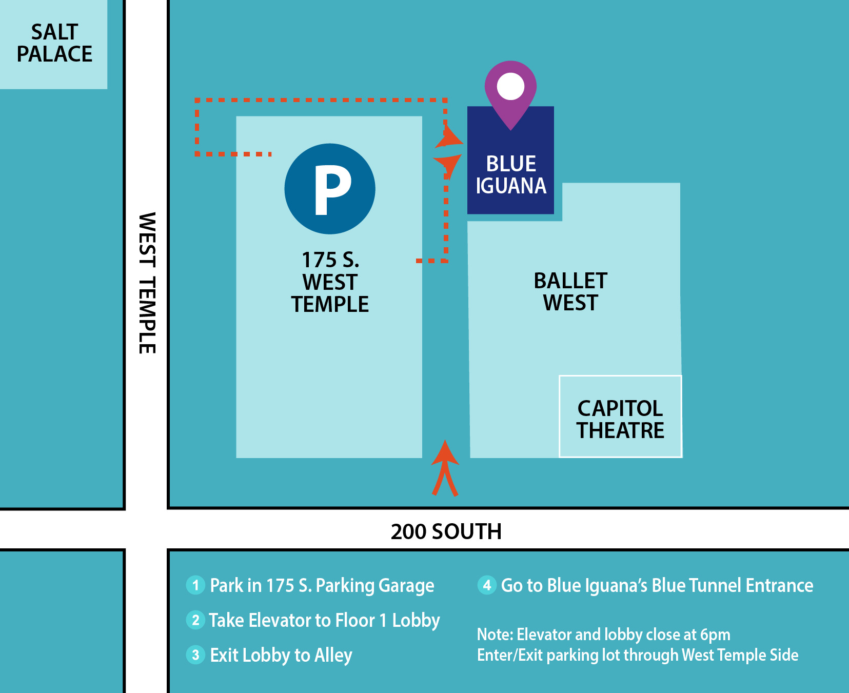 directions to Blue Iguana in Salt Lake City